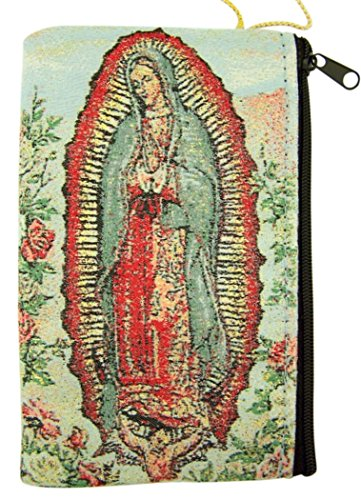 Woven Tapestry Guadalupe Rosary Zipper product image