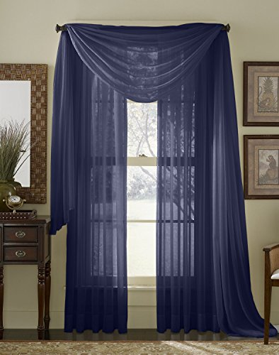 Hlc me navy 2 pack 108 inch x 95 inch window curtain for 108 window treatments