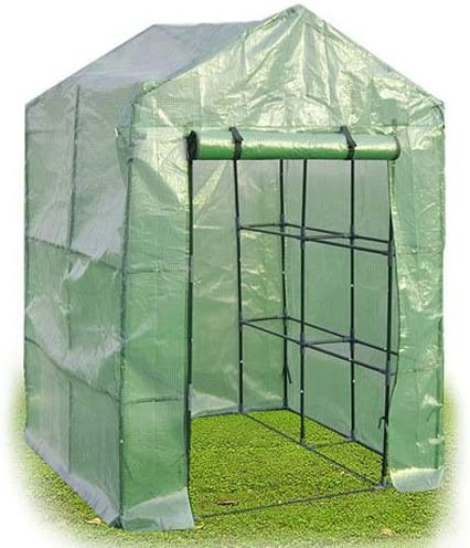 OGrow Deluxe Walk-in 2 Tier 8 Shelf Portable Lawn and Garden Greenhouse – Heavy Duty Anchors Included