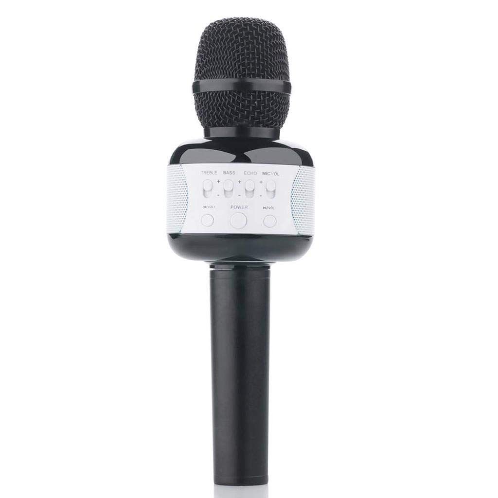 Rsiosle Professional Wireless Karaoke Microphone Bluetooth Speaker Mic Handheld Mic Party KTV Singing Compatible with Android and iOS ( Color : Black ) by Rsiosle (Image #1)