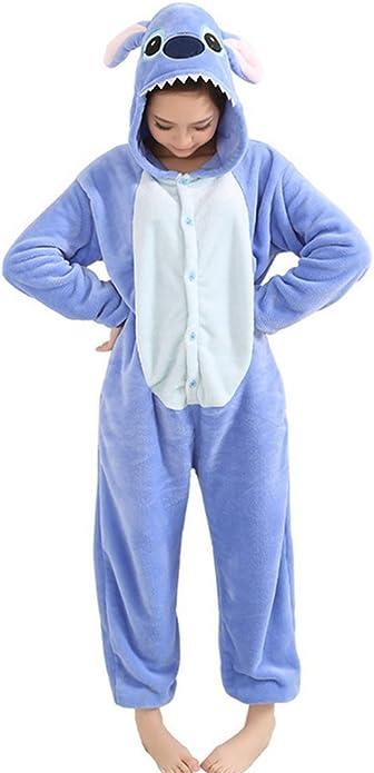 Mauea Unisexo Hombre Mujer Pijamas Halloween Traje Invierno Disfraz Animal Pyjamas Cosplay