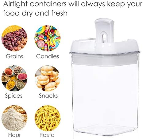 51ZyG ZS27L. AC Airtight Food Storage Containers,Vtopmart 7 Pieces BPA Free Plastic Cereal Containers with Easy Lock Lids,for Kitchen Pantry Organization and Storage,Include 24 Free Chalkboard Labels and 1 Marker    Product Description