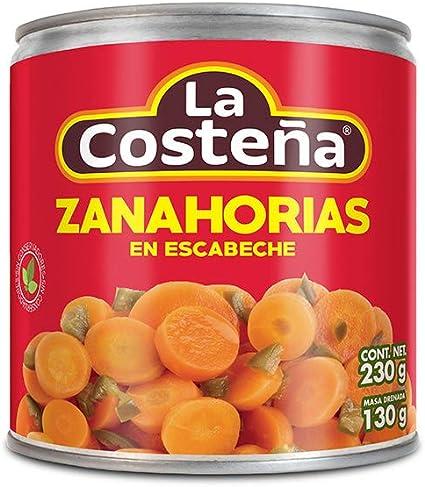 La Costena Zanahoria En Escabeche 230g Amazon Com Mx Alimentos Y Bebidas Deliciosas zanahorias en vinagre ideales para acompañar todos tus platillos, prueba esta receta es muy fácil imprimir receta de: la costena zanahoria en escabeche 230g