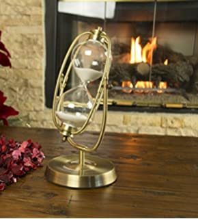 Oh! Trendy Decorative, Modern Cosmic Hourglass, 60 Minutes White Sand, 12.5  Inches