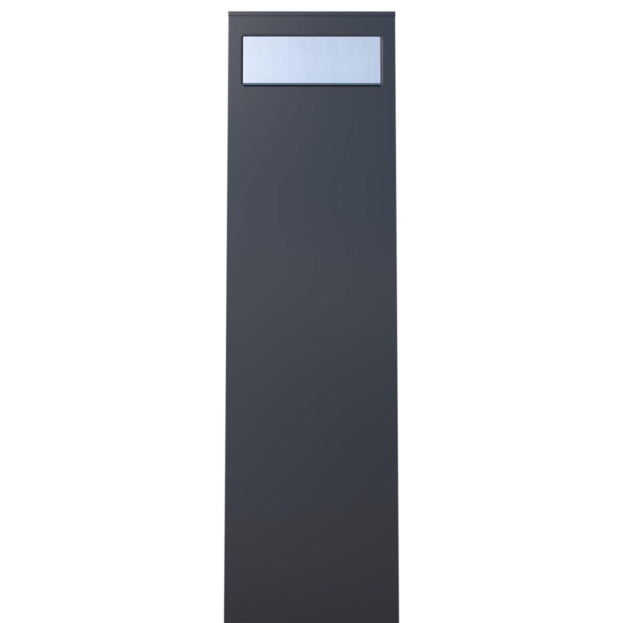 Bo/îte aux lettres sur pied /bravios design Bo/îte aux lettres Motif kurkh Noir//Inox/