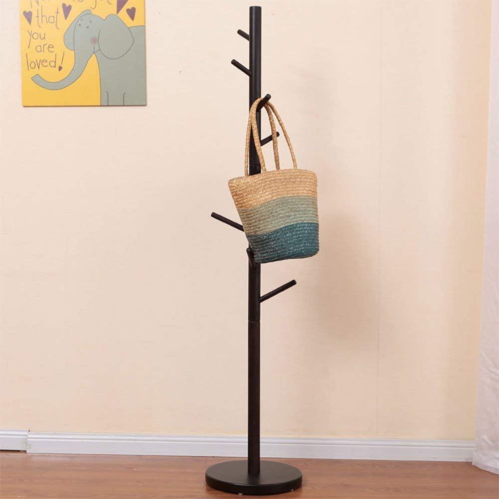 ZXL Perchero de Madera Maciza de 8 Ganchos Entrada Perchero de pie Pasillo de árbol Soporte para Percha con Base de trípode para Chaqueta Chaquetas Bufandas Monedero Sencillez Creativa (Color:
