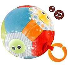 Musical Soft Play Baby Ball - Lights N Music Motion Activated Fun Ball By Yookidoo (3m+)