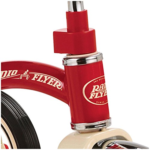 042385909707 - Radio Flyer Classic Tricycle with Push Handle, Red carousel main 3
