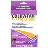 Webber Naturals Cold-Atak Throat Plus Sinus, 30-Count