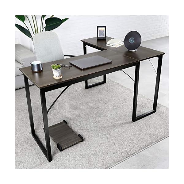 amzdeal Bureau d'angle Table, Table en Forme de L, Bureau d'Ordinateur Table, Bureau d'angle Informatique pour Maison et…