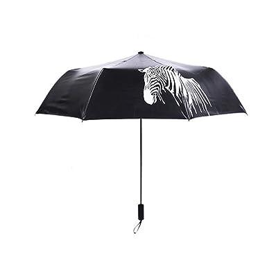 xgfys Paraguas De PlÁStico Negro Cebra Paraguas Cambio De Color ...
