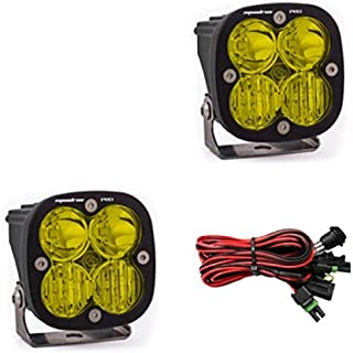 product image for Baja Designs Squadron PRO Pair ATV LED Light Driving Combo Amber Pattern