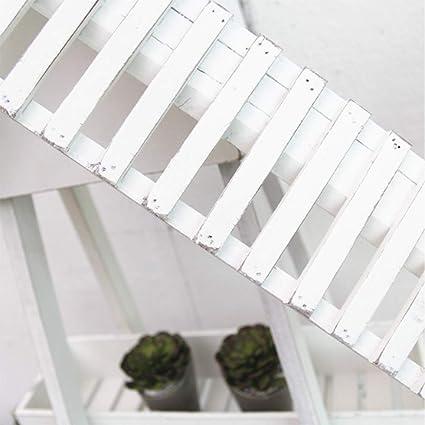 XIAOYU Rústica Vieja del Molino de Viento de múltiples Capas de Flores se paren Sala de Estar Balcón Cafetería Rack Decoración de la Planta en Maceta,1: Amazon.es: Hogar