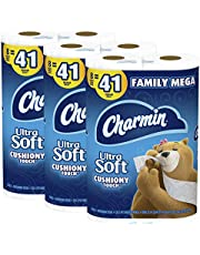 Charmin Ultra Soft Cushiony Touch Toilet Paper, 24 Family Mega Rolls = 123 Regular Rolls (Packaging May Vary)