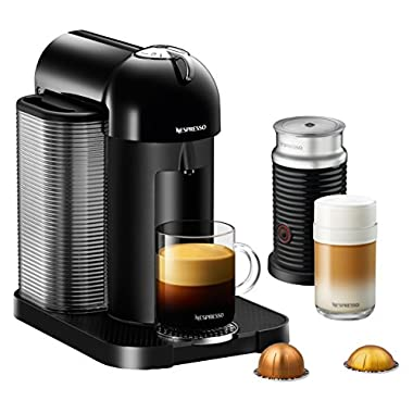 Nespresso Vertuo Coffee and Espresso Machine by Breville with Aeroccino, Black