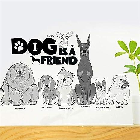 Pegatinas perros y razas MIX para pared/cristal salones ...