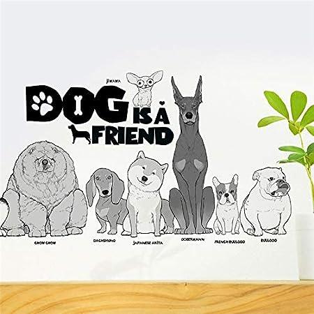 Pegatinas perros y razas MIX para pared/cristal salones habitaciones ventanas, escaleras clinicas veterinarias tiendas mascotas de CHIPYHOME: Amazon.es: Bricolaje y herramientas