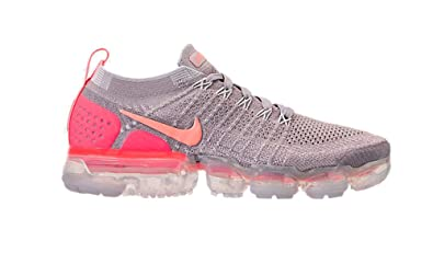 sale retailer b5a04 68dd1 Nike Women's Air Vapormax Flyknit 2 Running Shoes (10, Grey/Pink)