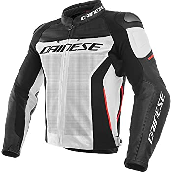 Amazon.com: Dainese Mens Super Speed Tex Jacket Black/White ...