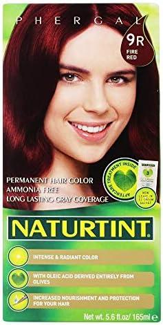 Naturtint - Tinte de Cabello Natural Permanente (155ml, 9R (Rojo Fuego))