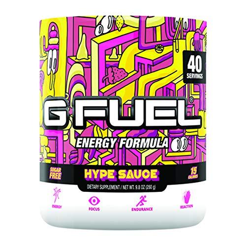 G Fuel Hype Sauce (40 Servings) Elite Energy and Endurance Formula 9.8 oz.