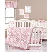 Trend Lab Pink Sky 3-Piece Crib Bedding Set