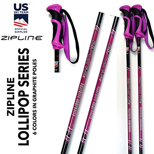 Us Olympic Ski Team (Junior Ski Poles Kids - Carbon Composite Graphite - Zipline