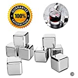 Image of Ice Stones, Set of 8 Reusable Stainless Steel Ice Cubes for Gifts, Reusable Ice
