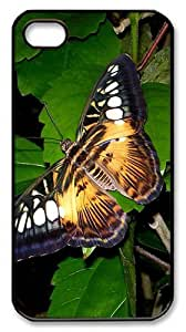 Rugged iPhone 4S Case,Big Butterfly Polycarbonate PC Plastic Hard Case Cover for Apple iPhone 4S/4 Black