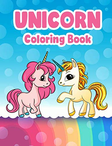 Unicorn Coloring Book: Fun Activity For Kids Ages 4-8 9-12 Great Gift 30 Unique Illustrations 2 Sets Single Side Print 3