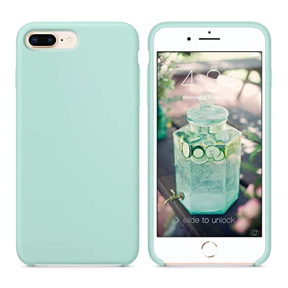 free shipping 2f969 09a49 SURPHY Silicone iPhone 8 Plus Case/iPhone 7 Plus Case, Soft Liquid Silicone  Rubber Slim Phone Case Cover with Microfiber Lining for Apple iPhone 7 ...