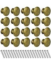 20 stuks messing lade knoppen ronde kast handgrepen met schroef voor keuken badkamer slaapkamer - 30mm