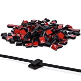 3m cable ties - 200 Pcs Adhesive Cable Clips, Oziral Car Cable Organizer, Cable Wire Management, Drop Cable Clamp Wire Cord Tie Holder for Car, Office and Home