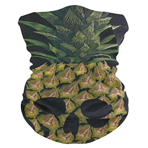 Skull PineappleHeadband Womens Bandana Mens Balaclava,Neck Warmer,Face Mask,Collars Aliceband