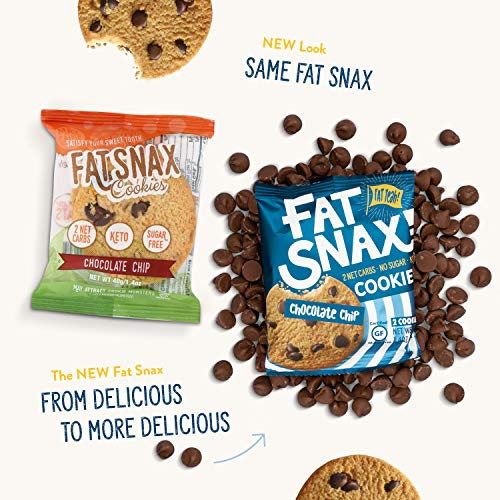 Fat Snax Cookies – Low Carb, Keto, and Sugar Free (Variety Pack, 6-pack (12 cookies)) – Keto-Friendly & Gluten-Free…