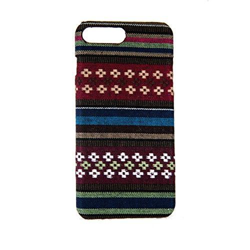 König-Shop Handyhülle aus Stoff-Case für Apple iPhone 8 Plus Cover Etui Bumper Schale Braun