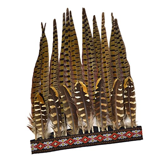 Homyl Behomio Vintage Pluma Indio Tribal Headdress Headwear