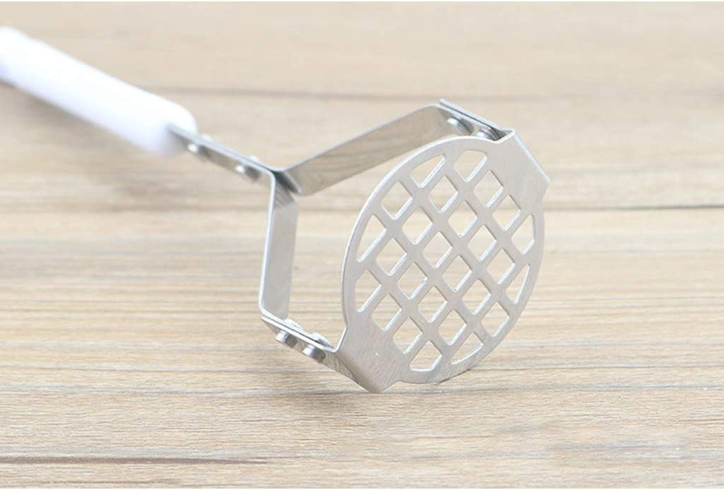 Masher Plate with Fine Grid for Potato Masher Stainless Steel Masher with Wide and Ergonomic Vegetables and Fruits
