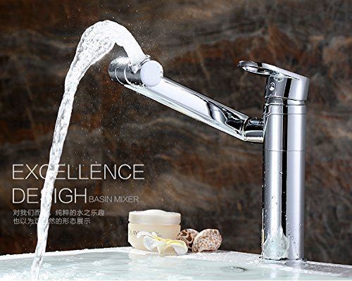 ETERNAL QUALITY Bathroom Sink Basin Tap Brass Mixer Tap Washroom Mixer Faucet The brass faucets single hole basin faucet hot and cold basin faucet swivel fittings 招 cat+6