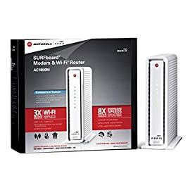 ARRIS SURFboard AC1750 DOCSIS 3.0 Cable Modem Router (SBG6782) Certified with Comcast Xfinity, Time Warner Cable, Charter, Cox, Cablevision, and more (Retail Packaging White) 1 Compatible with Comcast Xfinity, Time Warner Cable, Charter, Cox, Cablevision, and more. Call provider if not listed here. Requires Cable Internet Service and approved for plans up to 343 Mbps Not compatible with: Verizon, AT&T, or Centurylink Two-in-one DOCSIS 3.0 Cable Modem + AC1750 WiFi Router