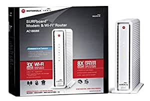 Arris DOCSIS 3.0 SURFboard Cable Modem and Wi-Fi Router - Retail Packaging - White (SBG6782-AC)