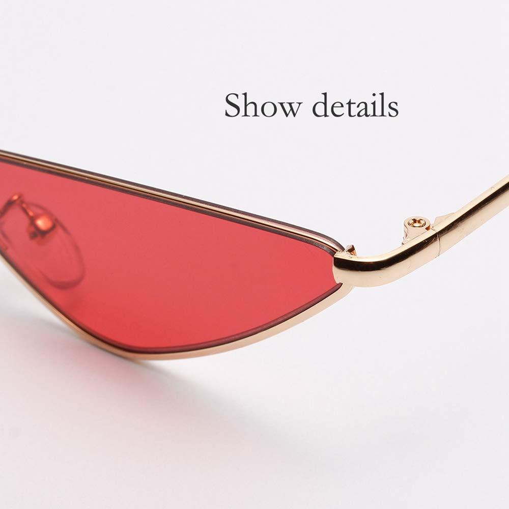 LEvifun occhiali da sole da Donna Metallo 50 Anni Moda Piccoli Occhi di gatto Vintage Particolari Occhiali sole da vista Leggerissimi Trasparente Unisex Occhiali sole Ragazze 3 colori
