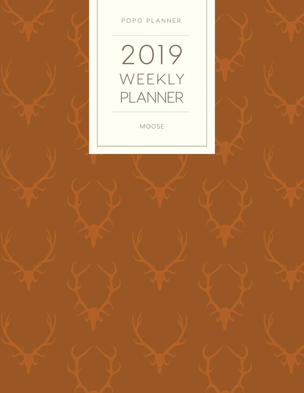 2019 Weekly Planner Moose: Dated With To Do Notes And ...