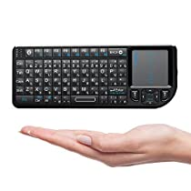 Riitek Riicool ミニ キーボード Bluetooth 3.0 タッチパッド搭載 ...