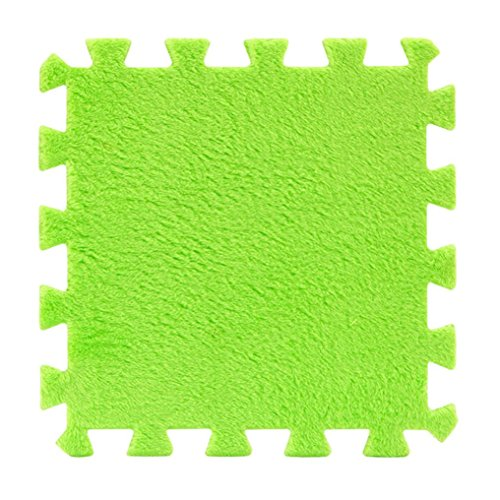 Baby Puzzle Mat Vibola Soft Patchwork Carpet Splice Baby Mat 1PCS (Green)