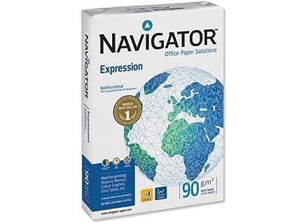 Navigator NAV0321 Carta liscia per stampante a getto d'inchiostro (non stratificato, 90 g/qm, formato A4) 500 fogli, colore: Bianco, 1 risma