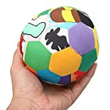 Babies Kids Colorful Soft Cloth Bright-colored Bell Ball Plush Toy