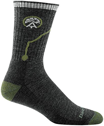 Darn Tough ATC Micro Crew Cushion Sock - Men's Charcoal X-Large (Training Schedule For Hiking The Appalachian Trail)