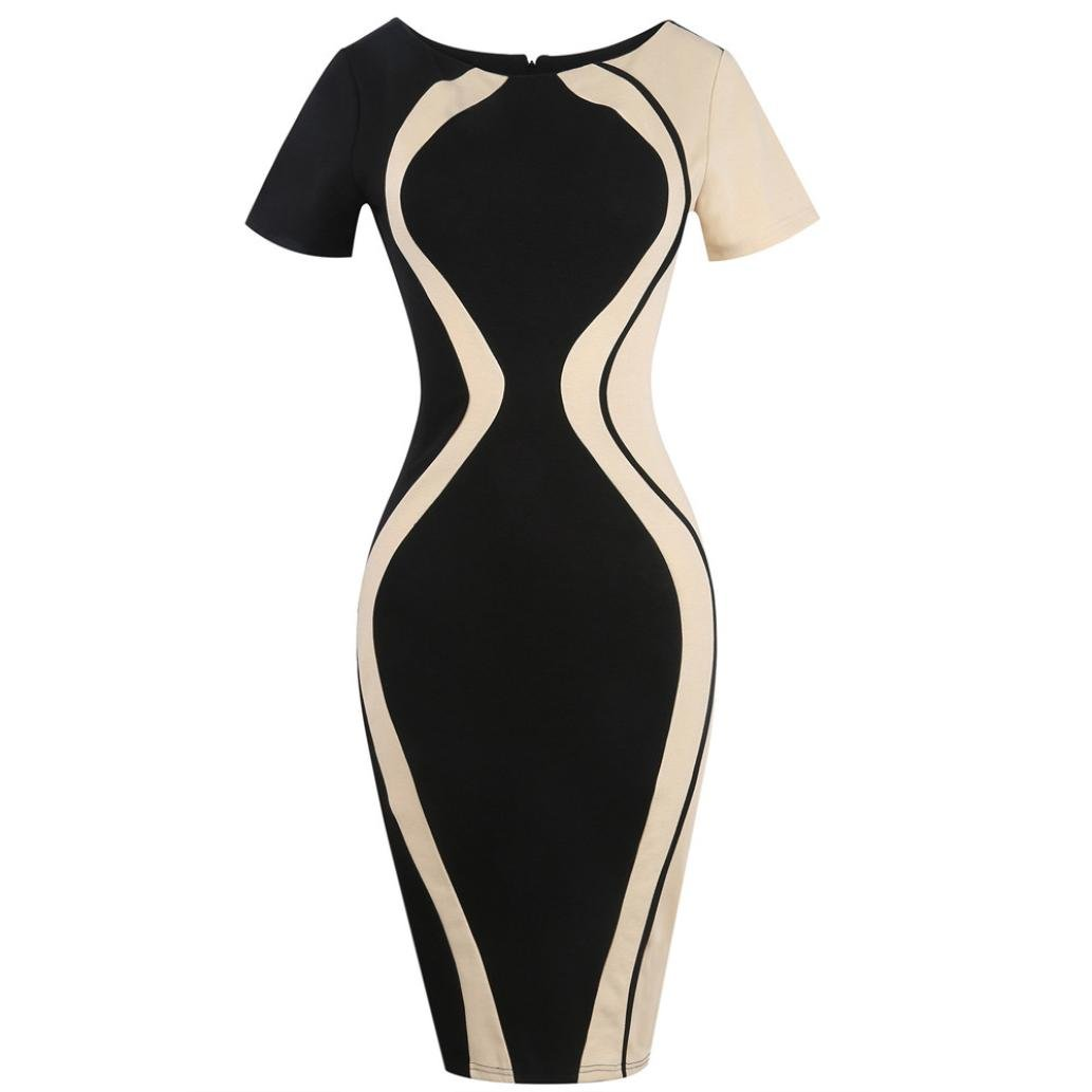 Amazon.com : Women Bodycon Dress Plus Size, Vanvler Ladies Short Sleeve {Pencil Mini Dress} Business Office Dress : Sports & Outdoors