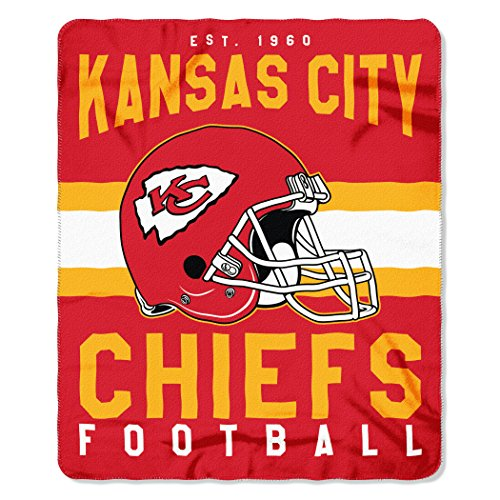 The Northwest Company NFL Kansas City Chiefs Singular Fleece Throw Blanket Singular Fleece Throw Blanket, Red, One ()